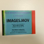 "IMAGES.MOV poster, paper, 1 of 2, 16X24"", 2015"