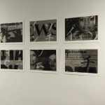 "IMAGES.MOV installation at FMC, Daily News prints, archival inkjet and paper, bl/wt, 1 of 1, 11""X17"", 2011, signed"