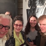 Tom Otterness, Jane Dickson, Coleen Fitzgzibbon, Greg Lehman at the Lodge Gallery